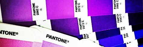 Tabela de cores Pantone, por Miro Brito.
