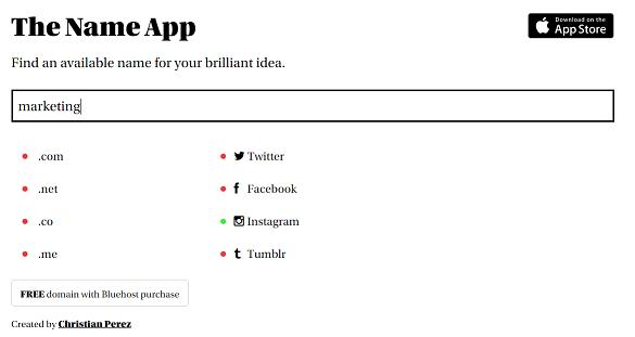App verifica se o nome escolhido para sua startup já existe