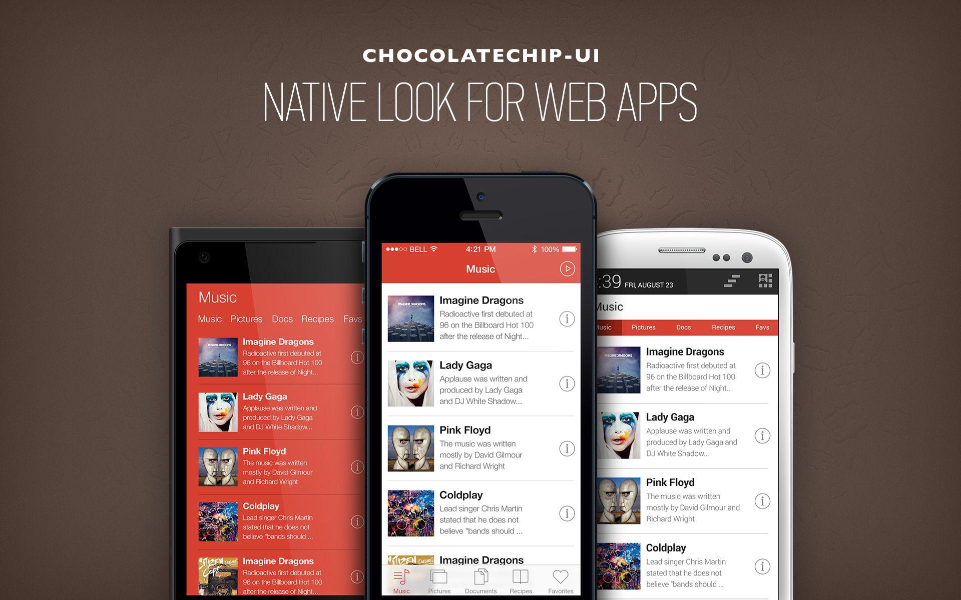 Chocolate UI é um framework para mobile