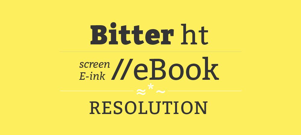 A fonte Bitter ht também pode ser baixada gratuitamente