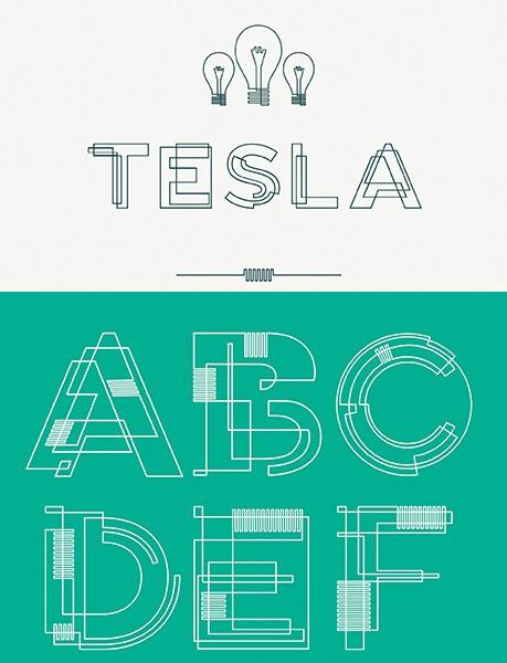 Tesla também está entre as top 6 tipografias gratuitas e sensacionais