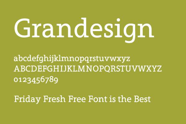 Grandesign é uma tipografia sensacional e grátis