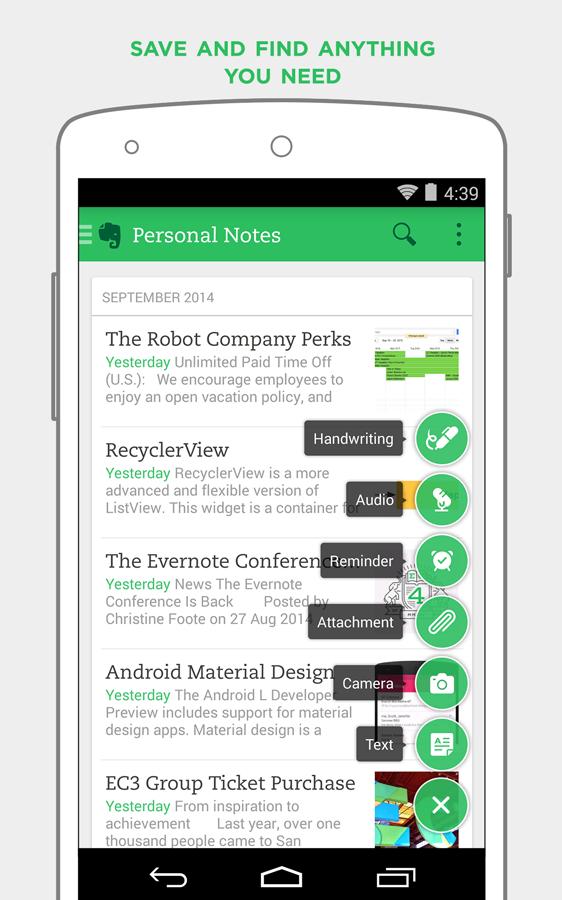 Aplicativo Evernote tem o ambiente ideal para você organizar seus estudos