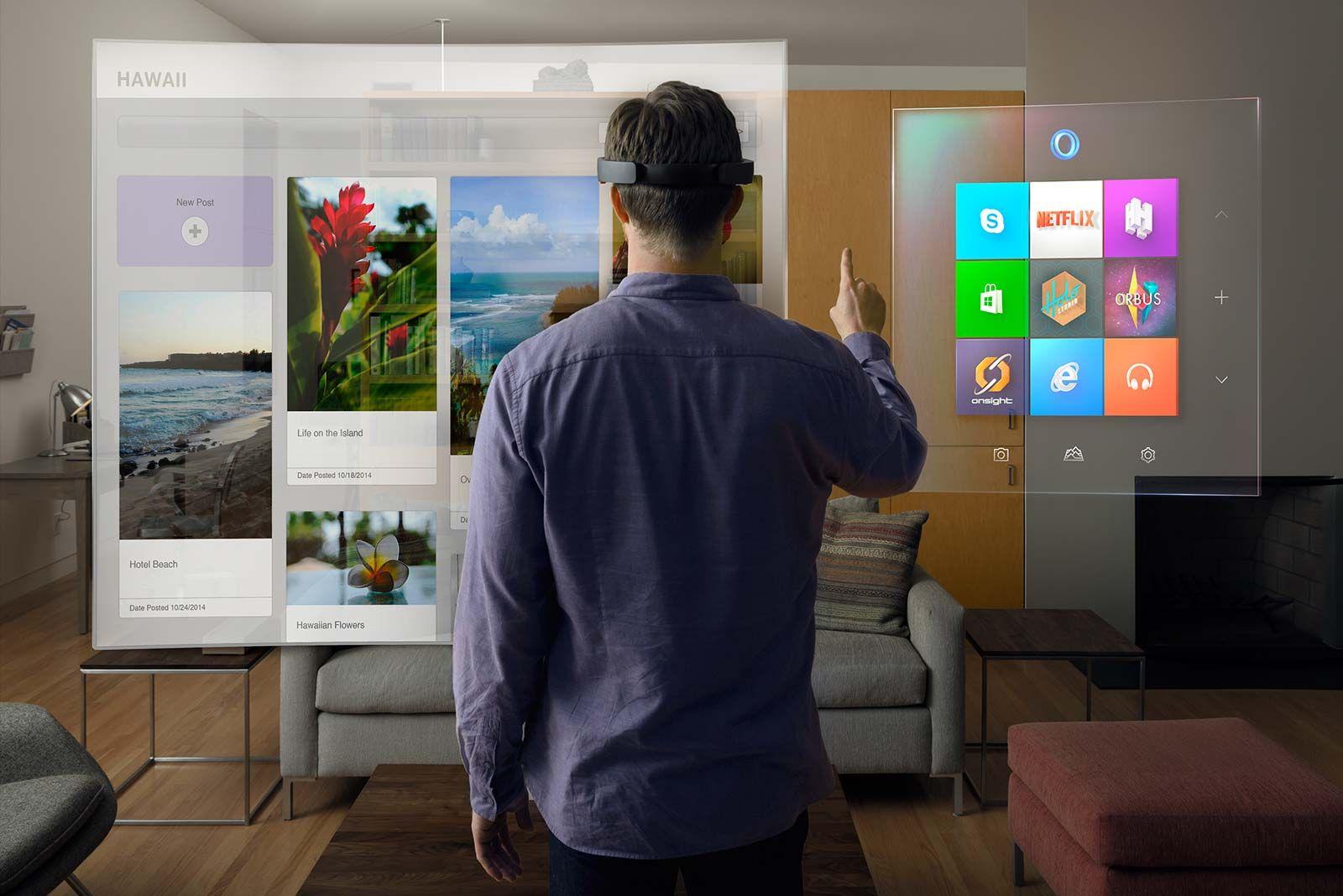 HoloLens é uma aposta da Microsoft para aumentar a produtividade