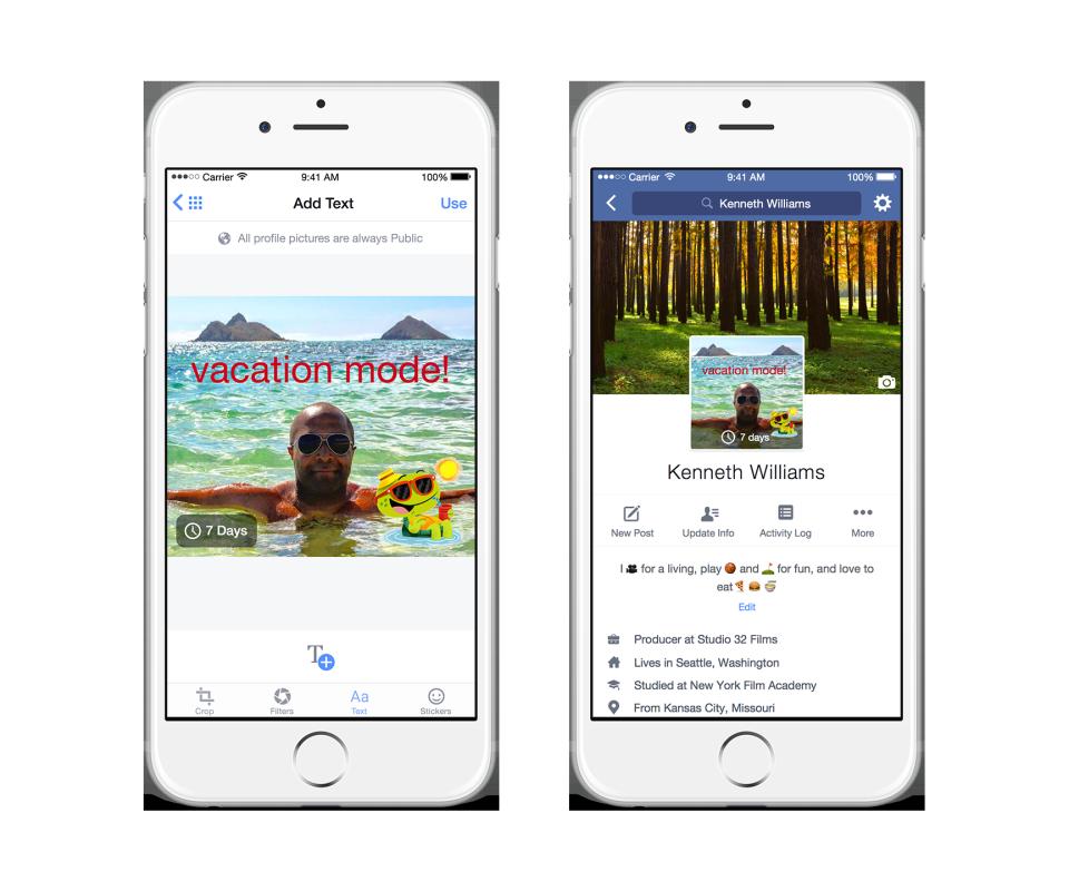 Facebook vai permitir fotos temporárias nos perfis