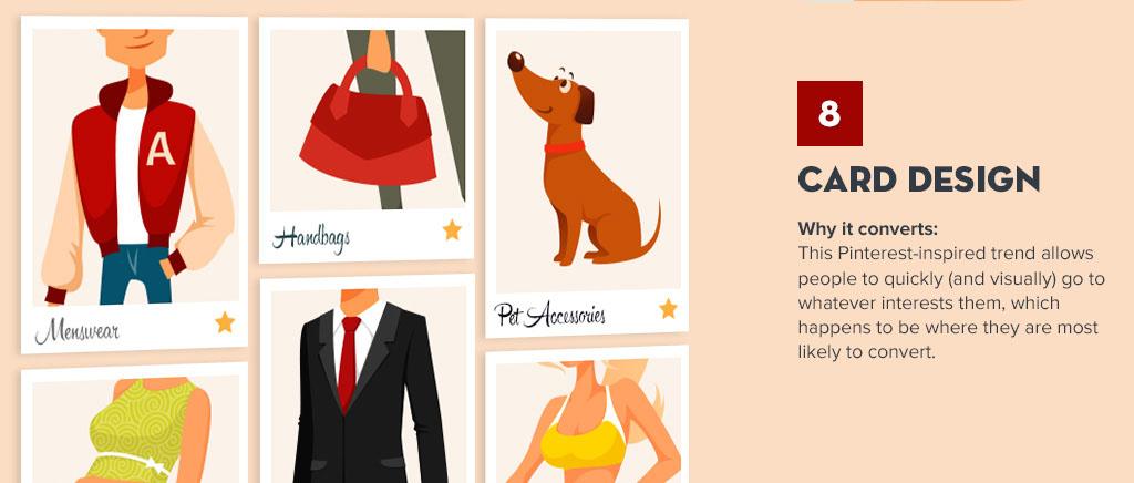 Com o design inspirado em cartões, fica mais fácil segmentar seus usuários
