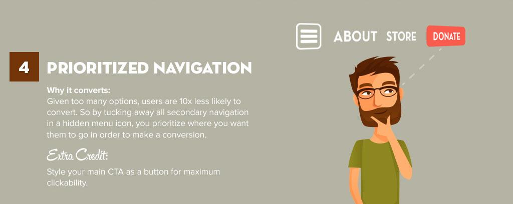 Priorize a navegação de seu usuário para a melhor conversão