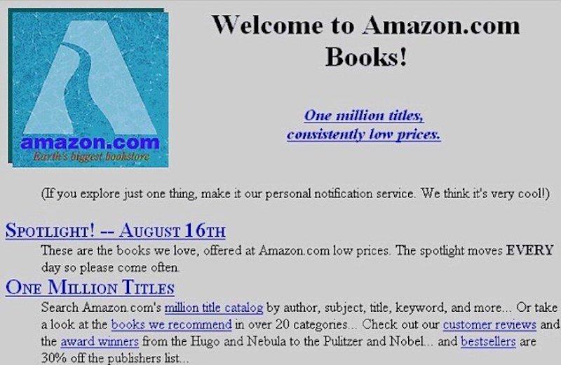Como era a Amazon em 1995