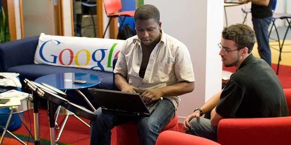 Funcionários do google considerando o trabalho menos estressante