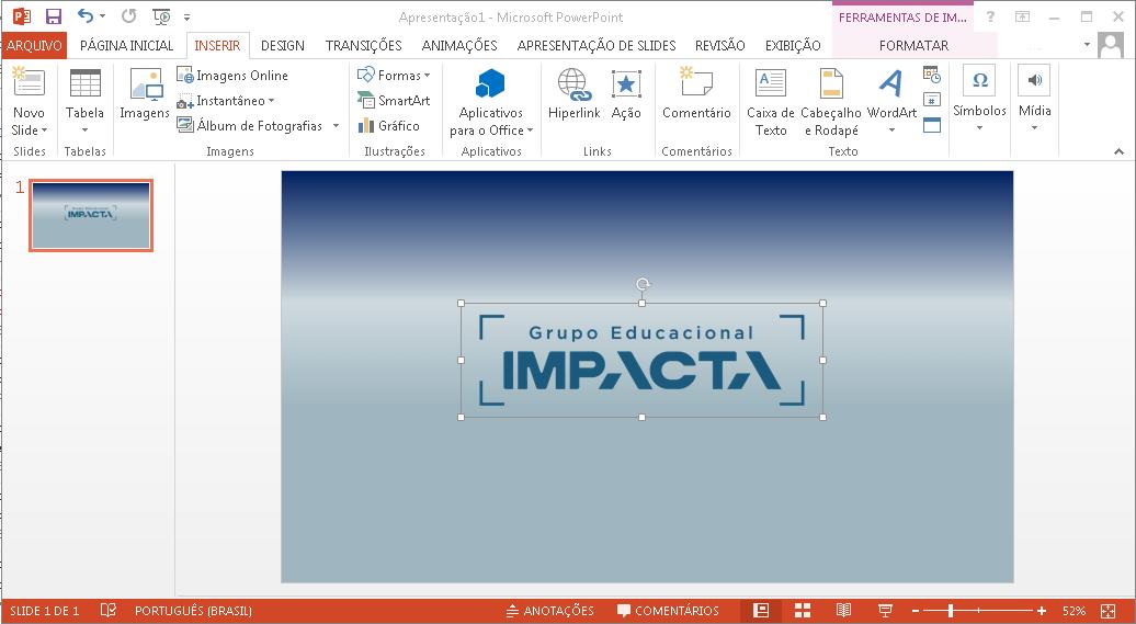 Você pode adicionar elementos gráficos, imagens, vídeos e muito mais nos seus slides