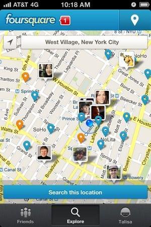 Foursquare utiliza princípios de gamification no seu app
