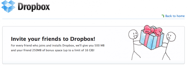 Dropbox premia quem convidar amigos, por exemplo