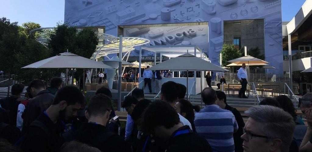 1ª keynote do WWDC gera fila