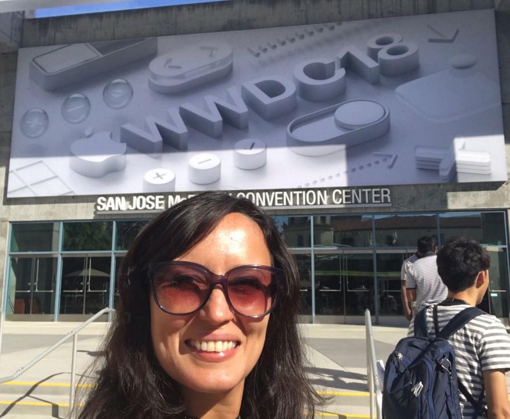 Professora Ilana Concília está no WWDC 2018