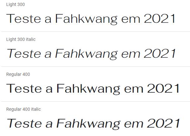fahkwang fonte